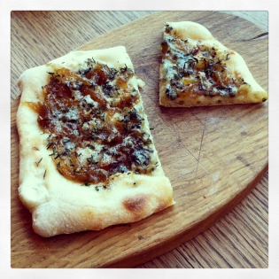 Blue Cheese, Mushroom & Thyme Flatbread