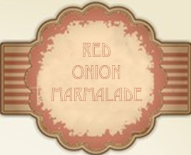 Red Onion Marmalade Label