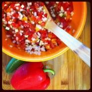 Fresh Zucchini & Tomato Salsa