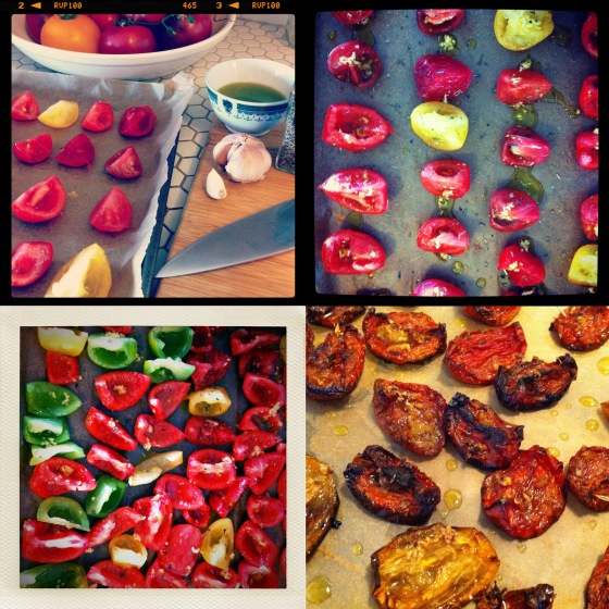 Roasting Tomatoes Collage