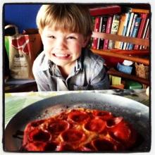 Ollie loves pepperoni pizza!