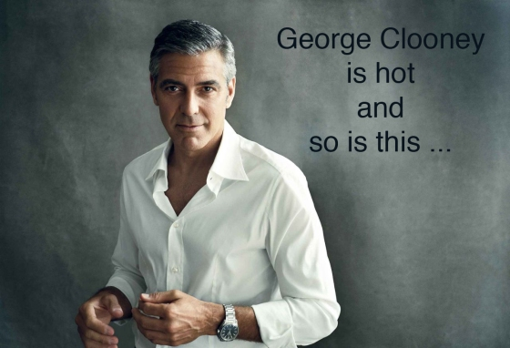 George Clooney is hot